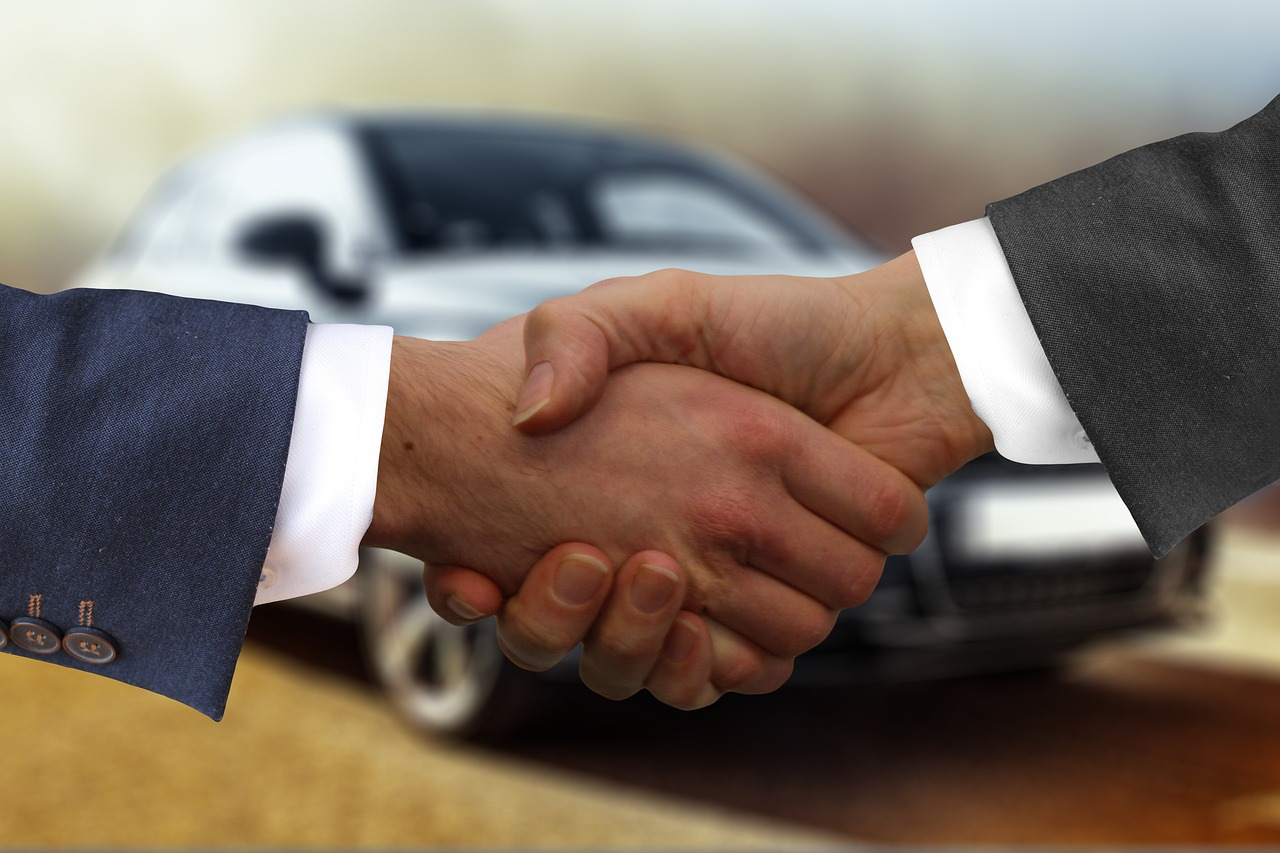 Car Finance Handshake